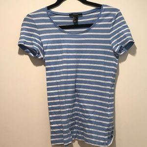 Forever 21 Blue and White Striped Tee